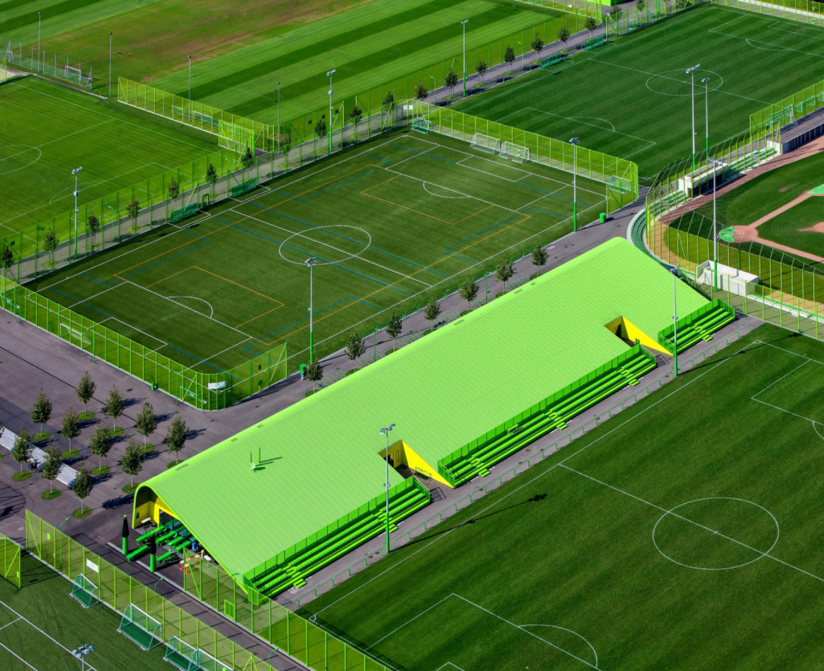 Central Coast Artificial Turf Co artificial grass installed for sports stadium